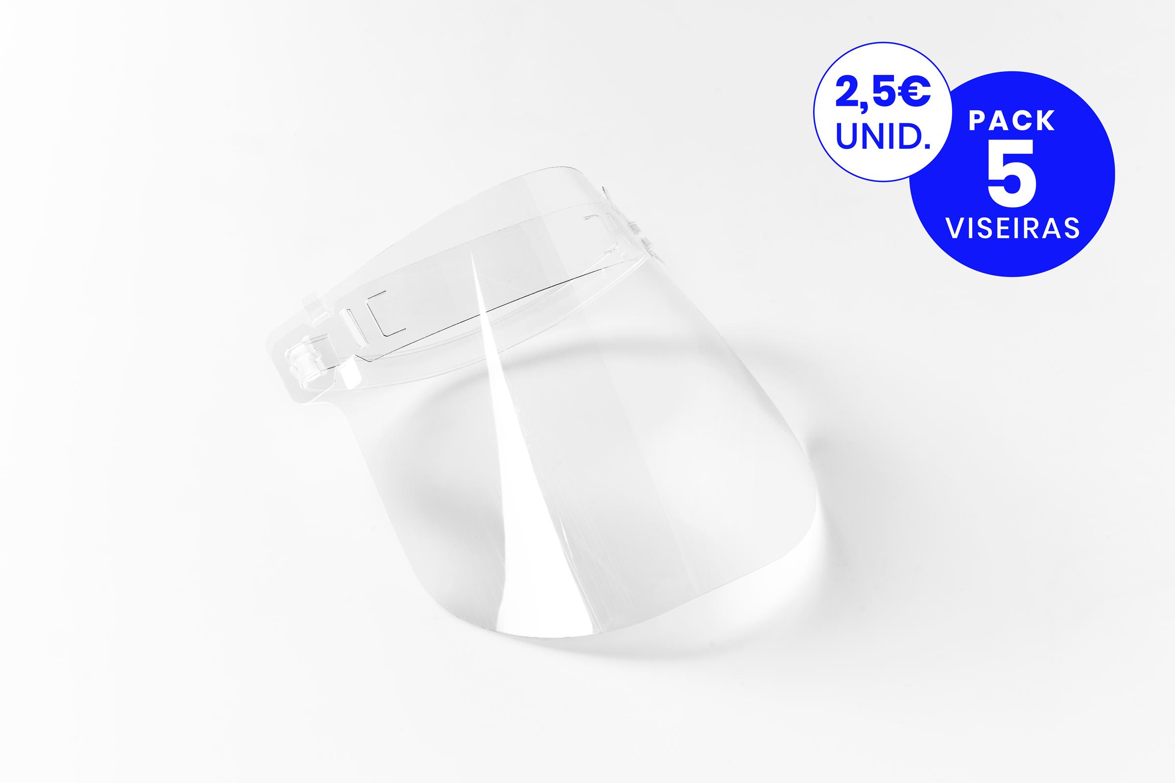 visiera de proteção económica em policarbonato cristal